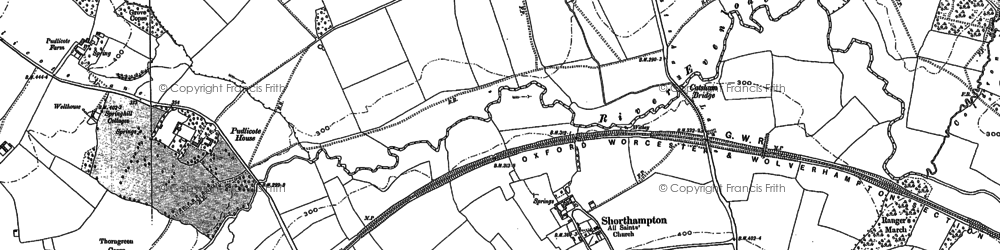 Old map of Shorthampton in 1898