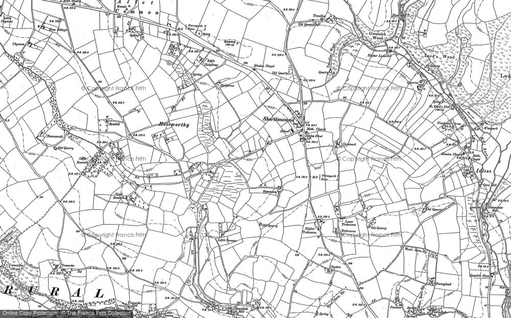 Old Map of Shortlanesend, 1886 in 1886