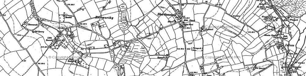 Old map of Shortlanesend in 1886