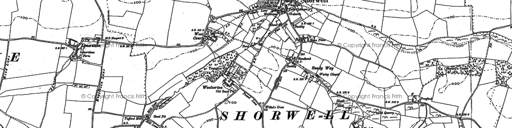 Old map of Yafford Ho in 1896