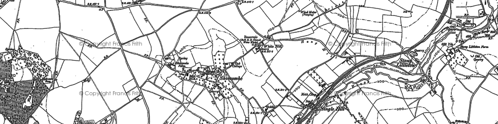 Old map of White Hill in 1884