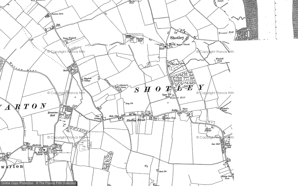 Old Map of Shotley, 1881 - 1902 in 1881