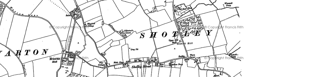 Old map of Shotley in 1881