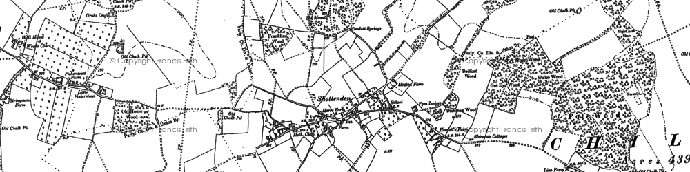 Old map of Wytherling Court in 1896