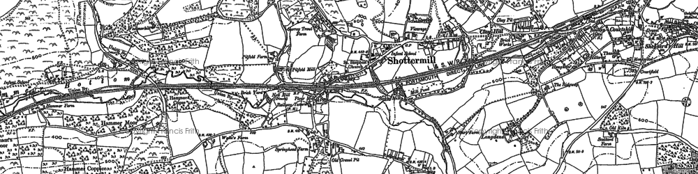 Old map of Shottermill in 1913