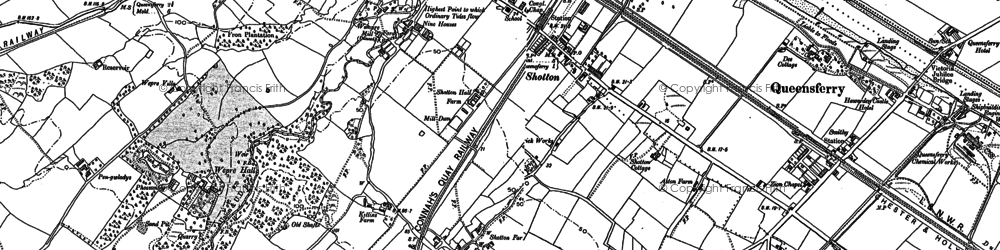 Old map of Shotton in 1909