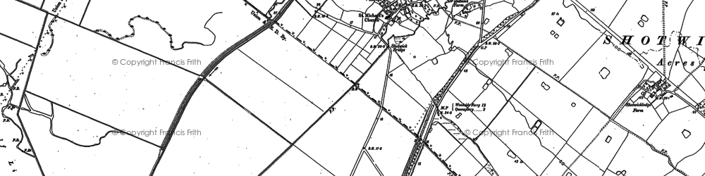 Old map of Shotwick in 1897
