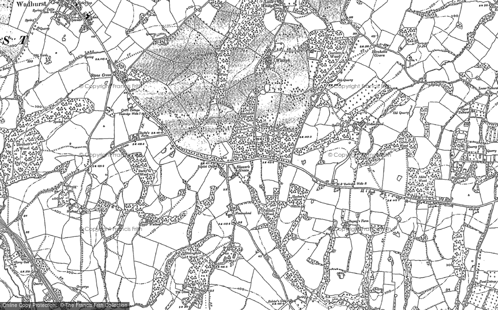 Old Map of Shover's Green, 1897 - 1908 in 1897