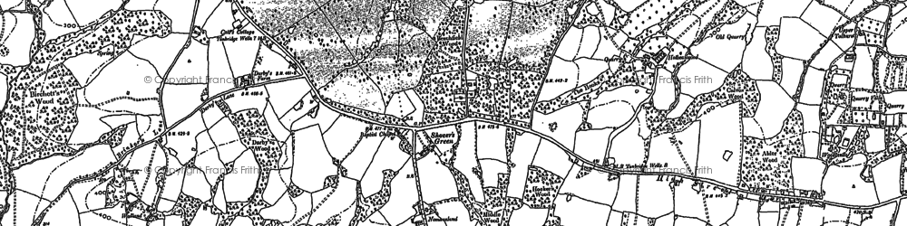 Old map of Shover's Green in 1897