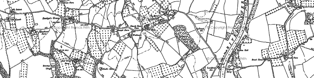 Old map of Shrawley in 1883
