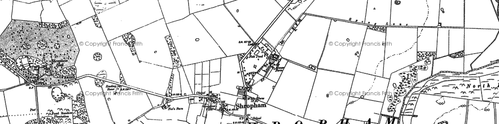 Old map of Linger Hill in 1882