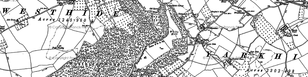 Old map of White Hill in 1886