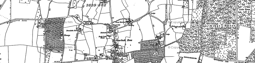 Old map of Allanbay Park in 1898