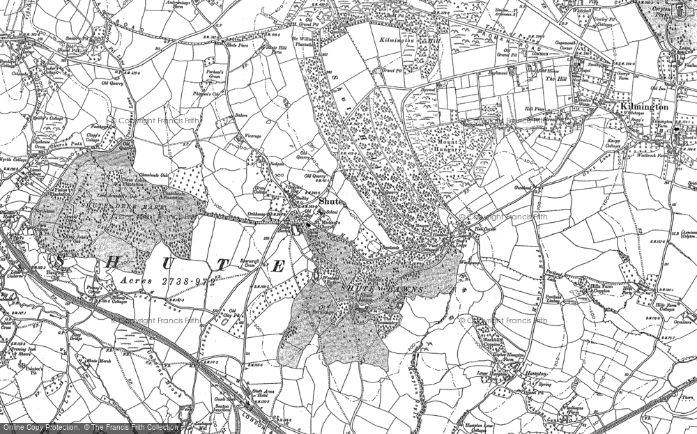 Old Map of Historic Map covering Bakers Mead in 1887