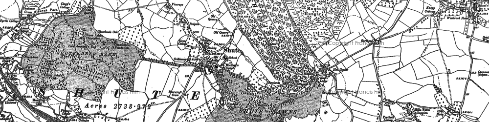 Old map of Bakers Mead in 1887