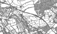 Old Map of Shute End, 1900 - 1924