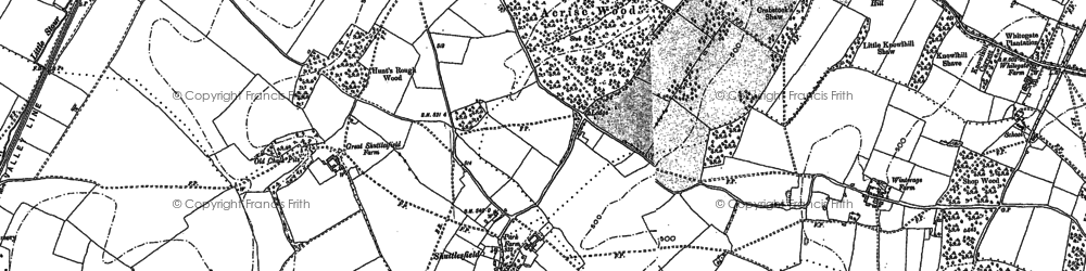 Old map of Acrise Place in 1884
