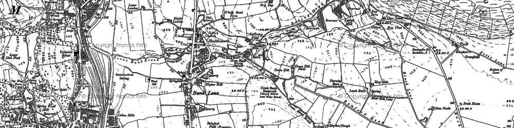 Old map of Bank Lane in 1891