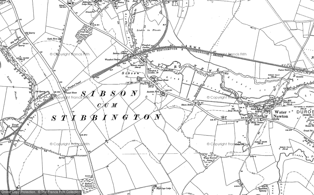 Old Map of Sibson, 1899 - 1900 in 1899