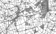 Old Map of Sibton, 1883