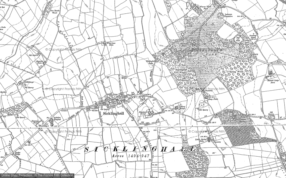 Old Map of Historic Map covering Addlethorpe Grange in 1888