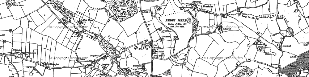 Old map of Whisterfield in 1897