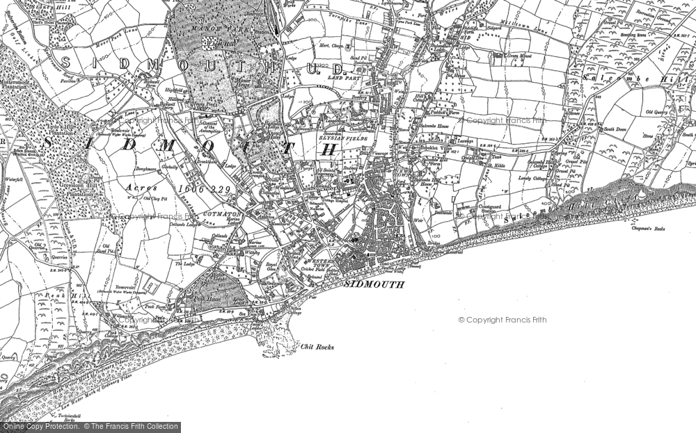 Map of Sidmouth, 1888
