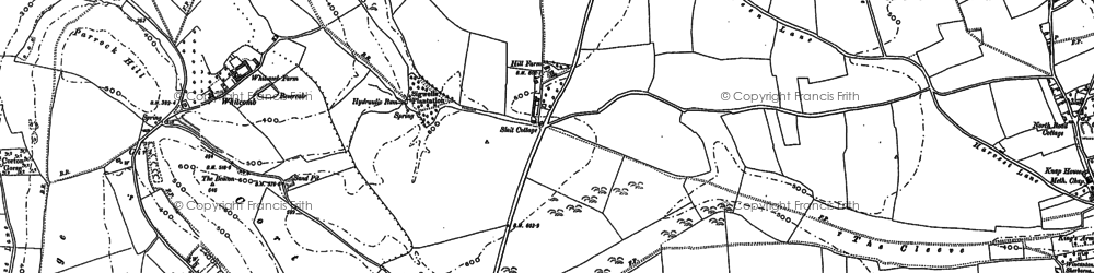 Old map of Whitcombe in 1885