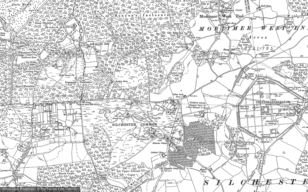 Old Map of Silchester, 1894 - 1909 in 1894