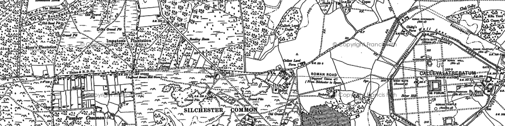 Old map of Silchester in 1894