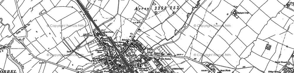 Old map of Sileby in 1883