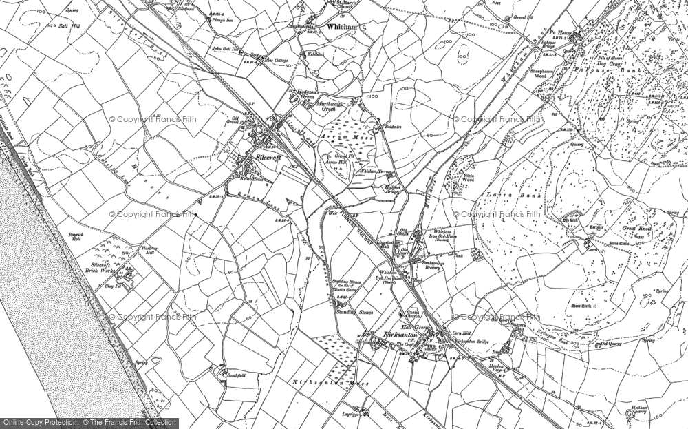 Old Map of Historic Map covering Baldmire in 1922