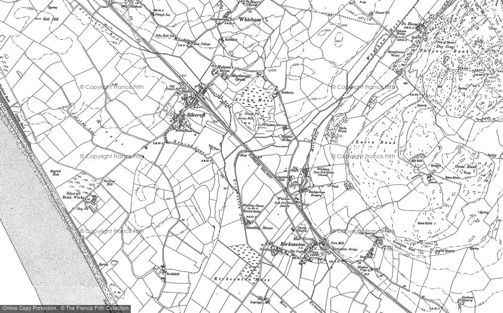 Map of Silecroft, 1922