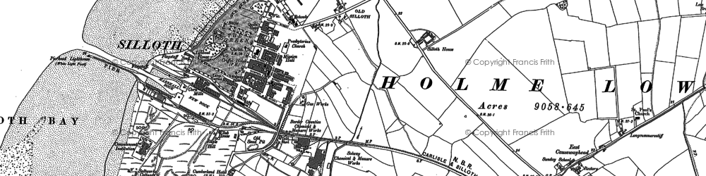 Old map of Silloth in 1923