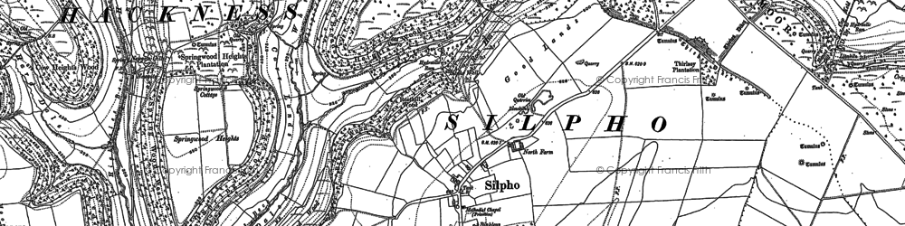 Old map of Whisperdales in 1910