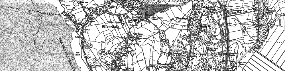 Old map of Lindeth Twr in 1911