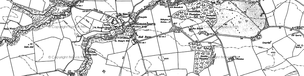 Old map of Woodley Shield in 1895