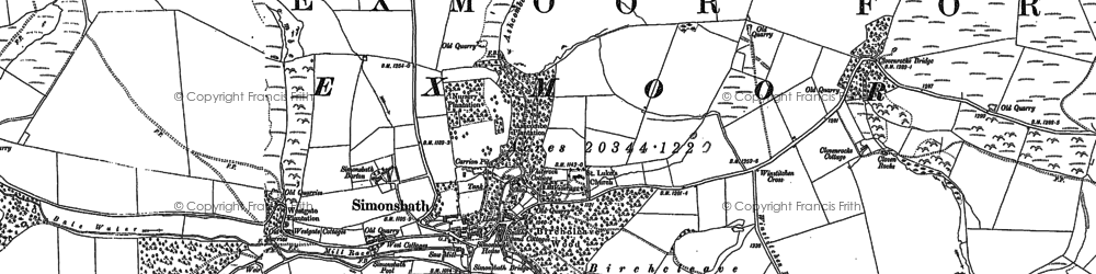 Old map of Lime Combe in 1887