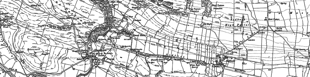 Old map of West Side in 1891