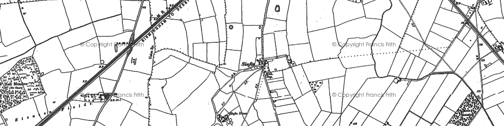 Old map of Sinfin in 1881