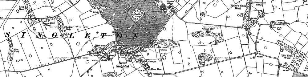 Old map of Singleton in 1891