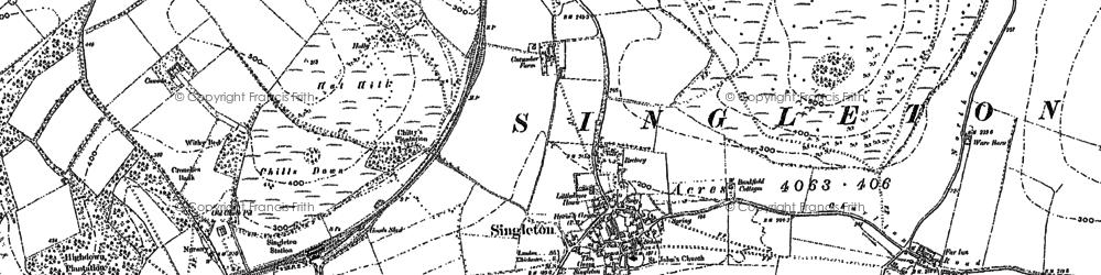 Old map of Singleton in 1896