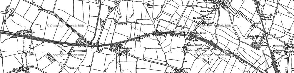 Old map of Alton Grange in 1882