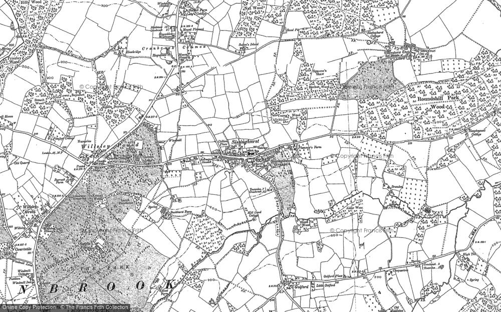 Old Map of Sissinghurst, 1895 - 1907 in 1895