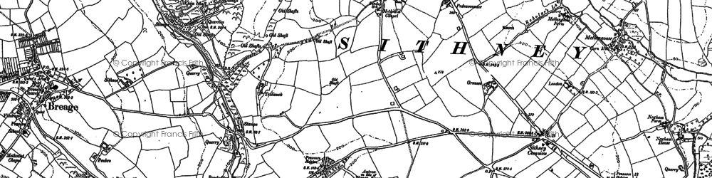 Old map of Sithney Green in 1906
