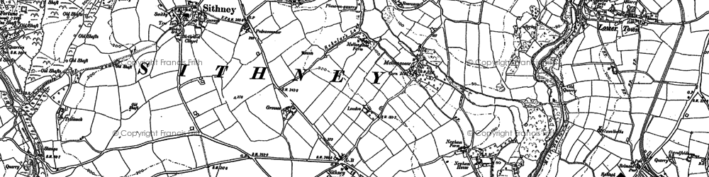 Old map of Lanner Vean in 1906