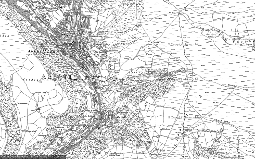 Map of Six Bells, 1899 - 1916