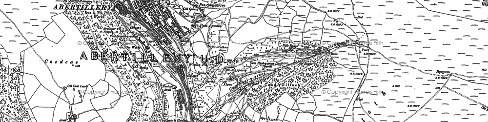 Old map of Six Bells in 1899