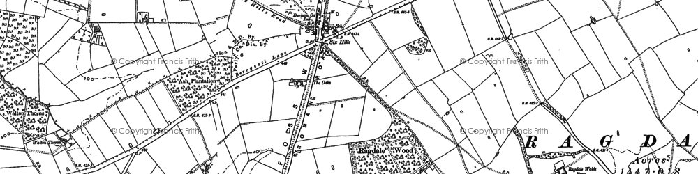 Old map of Wymeswold Lodge in 1883