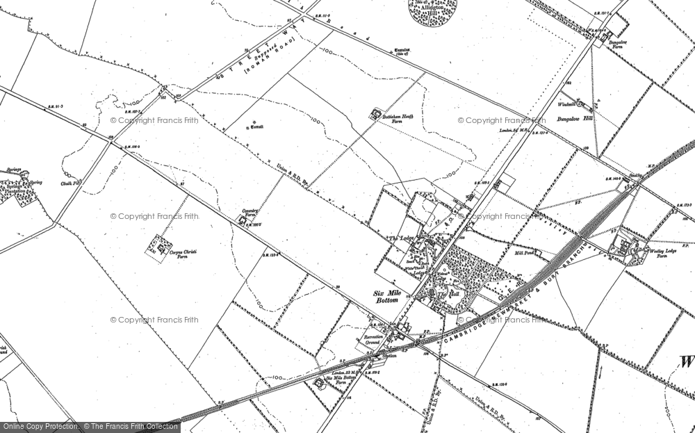 Old Map of Historic Map covering Allington Hill in 1885
